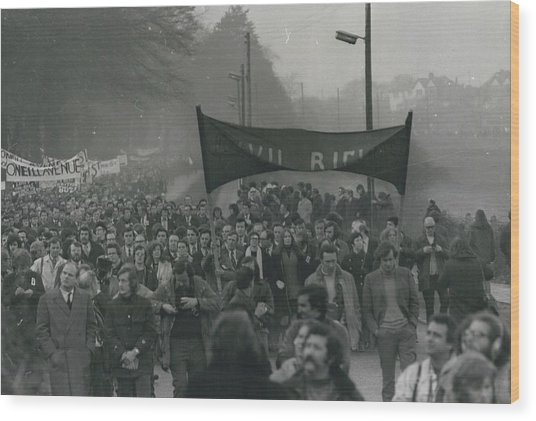 Newry March Passes Off Peacefully Wood Print by Retro Images Archive