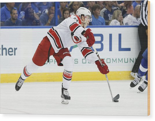 Nhl: Sep 27 Preseason - Hurricanes At Lightning Wood Print by Icon Sportswire