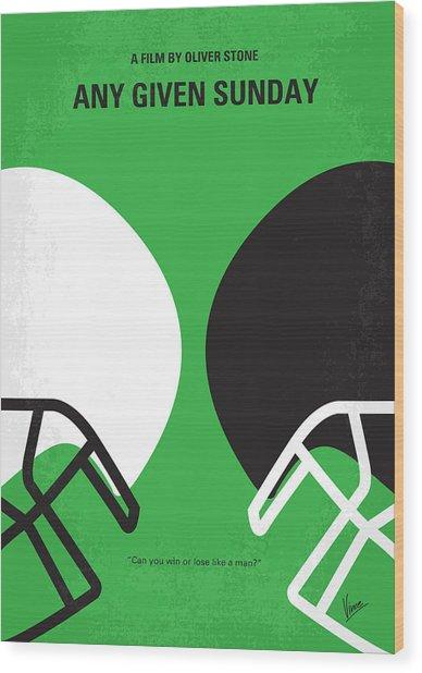 No420 My Any Given Sunday Minimal Movie Poster Wood Print