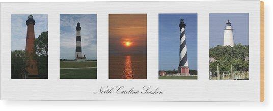 North Carolina Seashore Wood Print
