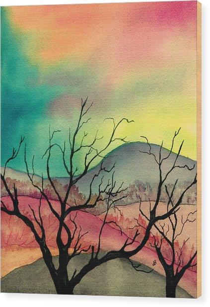 October Sky Wood Print