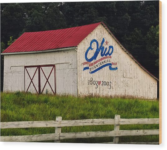 Ohio Bicentennial Barn Wood Print