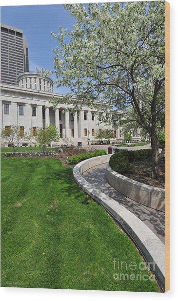 D13l-145 Ohio Statehouse Photo Wood Print