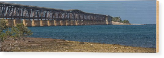 Old Bahia Honda Bridge Wood Print