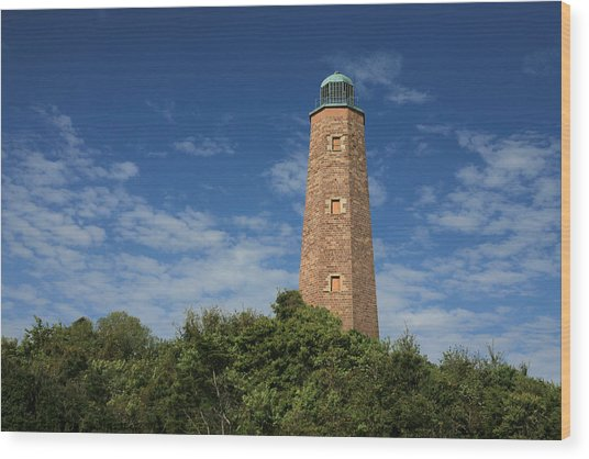 Old Cape Henry Lighthouse Wood Print by JC Findley