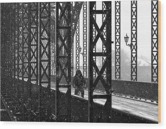 Old Harburg Bridge Wood Print