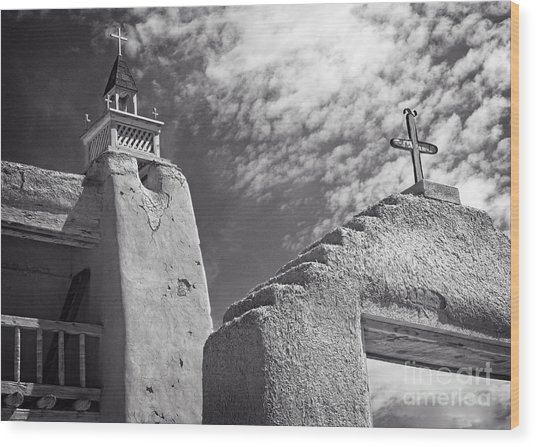 Old Mission Crosses Wood Print