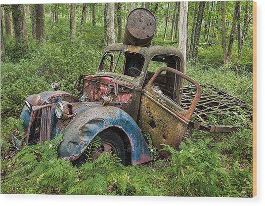 Old Pickup Wood Print