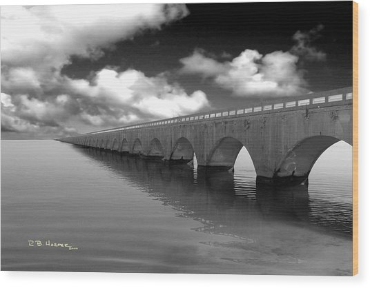 Old Seven Mile Bridge Florida Keys  Wood Print