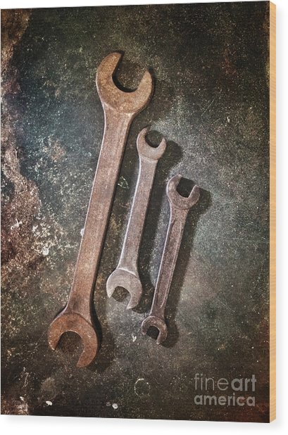 Old Spanners Wood Print