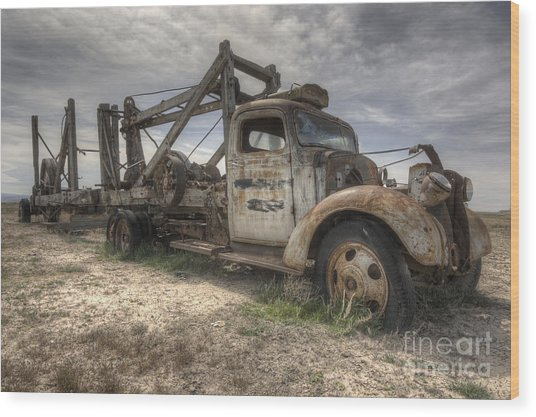 Old Truck Wood Print