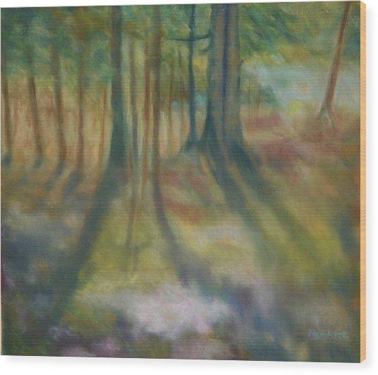 On Mossy Ground II Wood Print