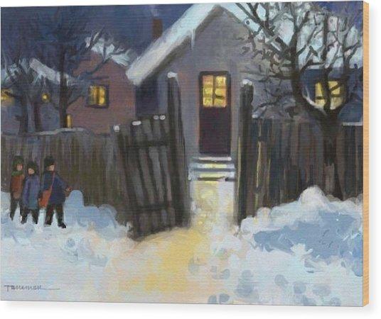 Open Door To Carol Wood Print by Tancau Emanuel