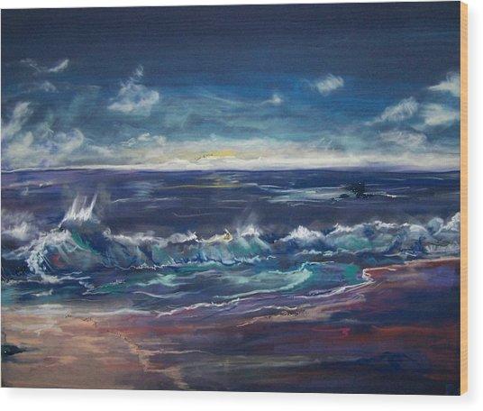 Open Sea Wood Print