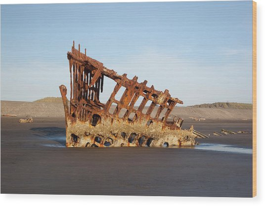 Or, Fort Stevens State Park, Wreck Wood Print by Jamie and Judy Wild