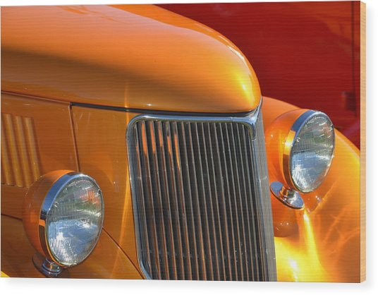 Orange Hotrod Wood Print