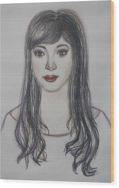 The Oriental Girl   Wood Print