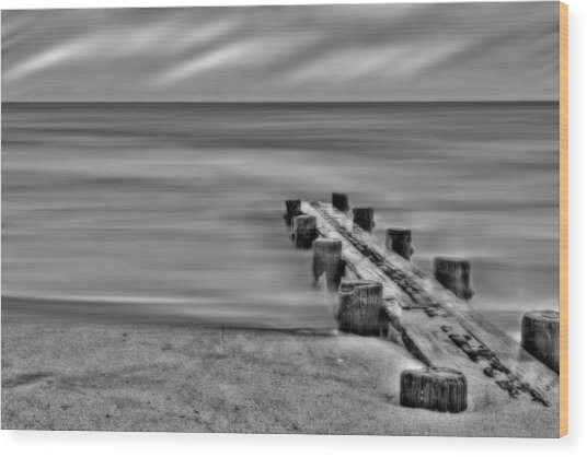 Out To Sea Wood Print