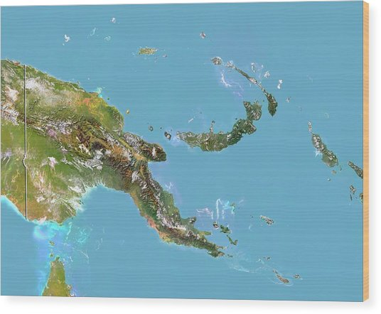 Papua New Guinea Wood Print by Planetobserver/science Photo Library