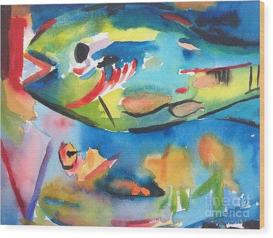 Parrot Fish Wood Print