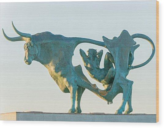 Pasifae  Sculpture By Oscar Estruga. In Vilanova I La Geltru  Wood Print