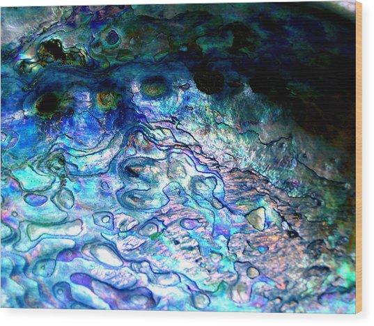 Paua Shell Wood Print