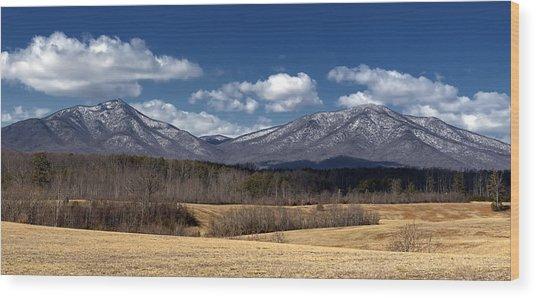 Peaks Of Otter Mountains Wood Print