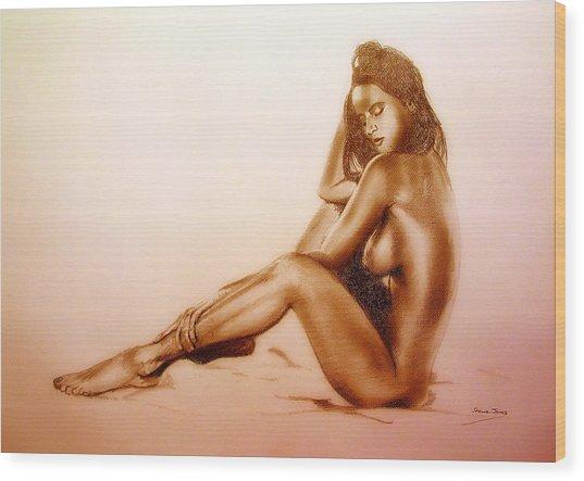 Pencil Nude Wood Print