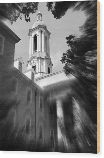 Penn State Old Main Wood Print