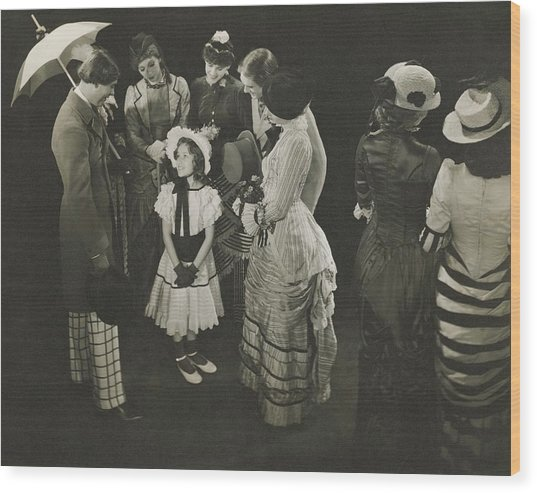 Performance Of As Thousands Cheer Wood Print by Edward Steichen