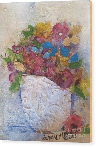 Petals And Blooms Wood Print