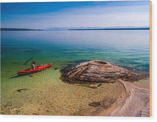 Photographing Fishing Cone Wood Print by Chuck De La Rosa