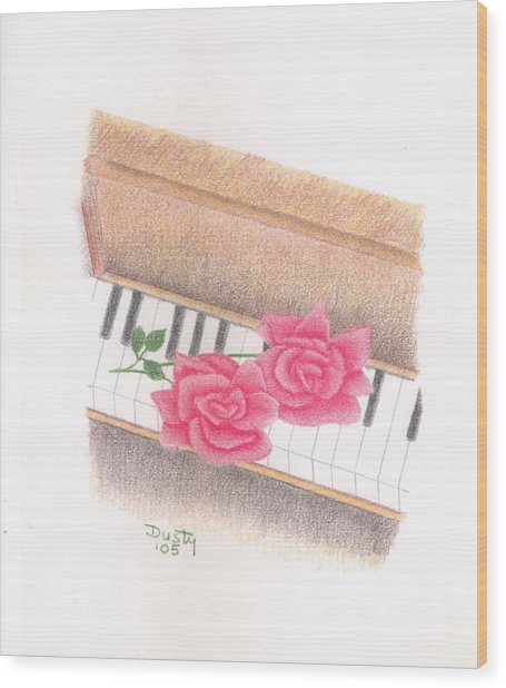Piano Pinks Wood Print by Dusty Reed