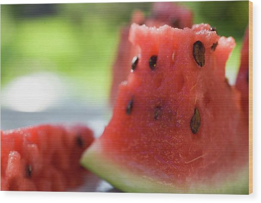 Pieces Of Watermelon Wood Print
