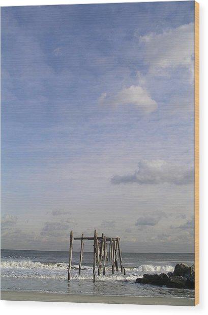 Pier Sky Wood Print