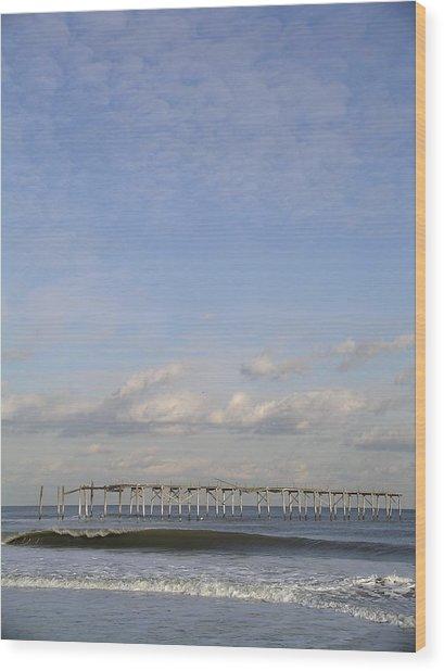 Pier Wave Wood Print