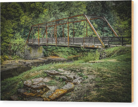 Pine Creek Bridge Wood Print