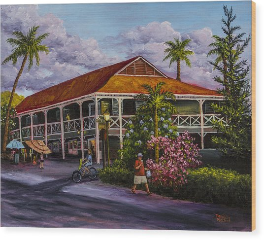 Pioneer Inn Lahaina Wood Print
