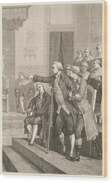 Pitt The Elder  1st Earl Of Chatham Wood Print by Mary Evans Picture Library