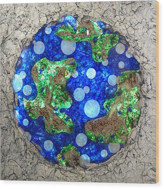 Planet Wood Print