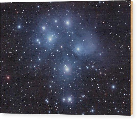 Pleiades M45 Wood Print