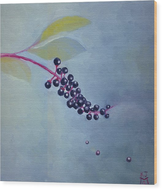 Pokeberries Wood Print
