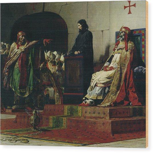 Pope Formosus And Pope Stephen Vi Wood Print