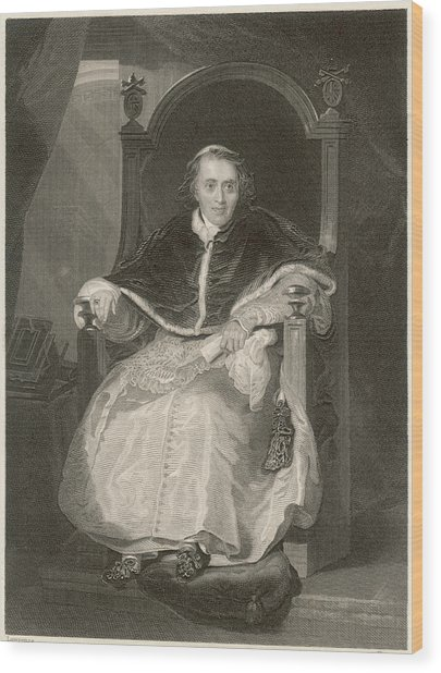 Pope Pius Vii (luigi Barnabo Wood Print by Mary Evans Picture Library