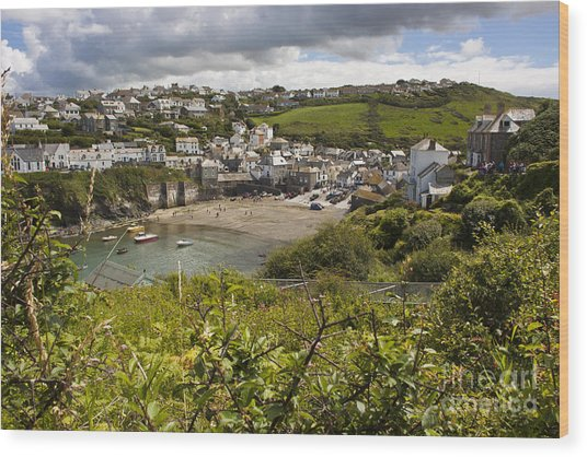 Port Issac Cornwall Wood Print