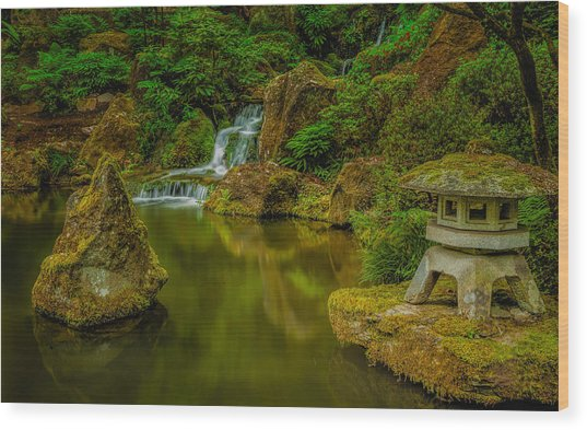 Portland Japanese Gardens Wood Print