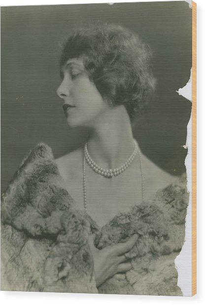 Portrait Of Elsie Ferguson Wood Print