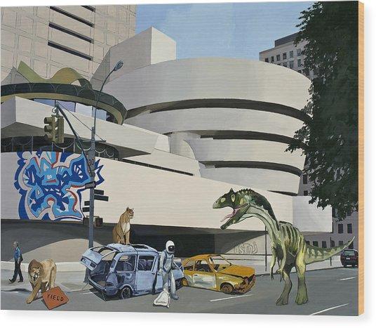 Post-nuclear Guggenheim Visit Wood Print