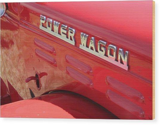 Power Wagon Wood Print
