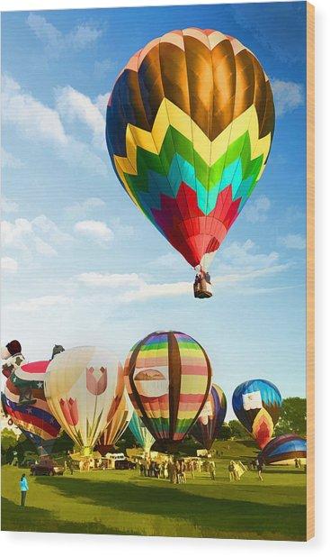 Preakness Balloon Festival Wood Print